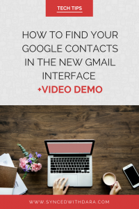 If you're a Google contacts user who's recently upgraded to the new Gmail look, chances are that you got a bit frustrated just like I did. So today I'm going to show you how to find your Google contacts inside your new Gmail interface. It's actually quite simple. #gmail #google #techtips #howto