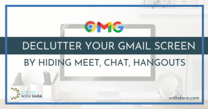Declutter Your Gmail Screen by Hiding Meet, Chat, Hangouts